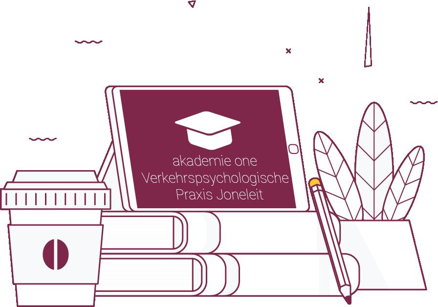 Akademie One Logo auf Tablet Zeichnung