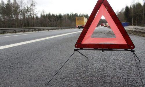 Warndreieck auf Autobahn